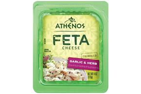 Athenos Crumbled Garlic & Herb Feta Cheese 4 Oz.