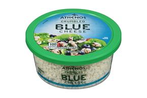 Athenos Crumbled Blue Cheese 4.5 Oz. Tub