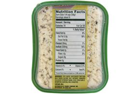 Athenos Crumbled Garlic & Herb Feta Cheese 6 Oz. Tub