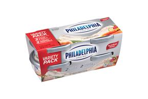 Philadelphia Chive & Onion/Garden Vegetable Cream Cheese Spread Variety Pack 4-8 Oz. Tubs