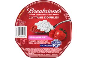 Breakstone's Cottage Doubles Strawberry Cottage Cheese 3.9 Oz. Tray