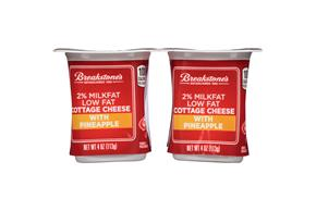 Breakstone's Pineapple 2% Cottage Cheese 4-4 Oz. Cups