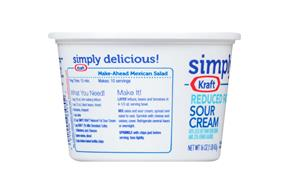 Simply Kraft Light Sour Cream 16 Oz. Tub