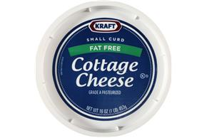 Kraft Small Curd Fat Free Cottage Cheese 16 Oz. Tub