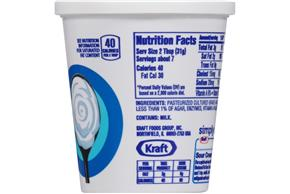 Simply Kraft Light Sour Cream 8 Oz. Cup