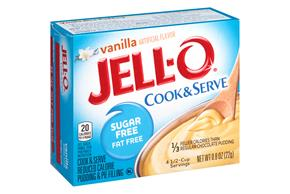 Jell-O Pudding And Pie Filling Vanilla Sugar Free Fat Free 0.8 Oz Box