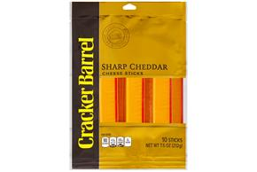 Cracker Barrel Sharp Cheddar Cheese Sticks 10 Ct Bag