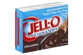 Jell-O Pudding And Pie Filling Chocolate Sugar Free Fat Free 2 Oz  Box