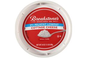 Breakstone's Small Curd 2% Milkfat Lowfat Cottage Cheese 24 Oz. Tub
