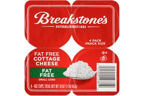 Breakstone's Small Curd Fat Free Cottage Cheese 4-4 Oz. Cups