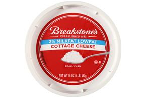 Breakstone's Small Curd 2% Milkfat Lowfat Cottage Cheese 16 Oz Tub