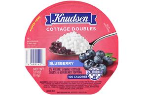 Knudsen Cottage Cheese Doubles - Blueberry 3.9 Oz Tray