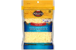 Polly-O Low Moisture Part Skim Shredded Mozzarella 8Z Bag