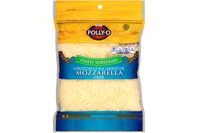 Polly-O Low Moisture Whole Milk Finely Shredded Mozzarella 8Z Bag