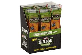 Kraft 1.6 Oz Cheese And Meat Sticks  Cheddar With Pepperoni And Jalapenos     12 Box/Carton Inner Pa