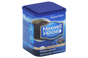 Maxwell House Coffee-Ground Filter Pack