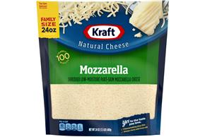 Kraft Mozzarella Shredded Natural Cheese  24Oz Bag