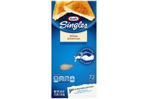 Kraft Singles White American 72 Ct Cheese Slices 48 Oz Box