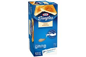 Kraft Singles White American Cheese Slices 48 Oz Box (72 Slices)