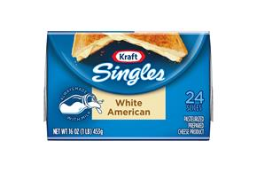 Kraft Singles White American Cheese Slices 16 Oz Wrapped (24 Slices)