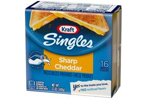 Kraft Singles Cheddar Sharp 16 Ct Cheese Slices 12 Oz Pack