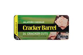 Cracker Barrel Jalapeno Cheddar Cheese Cracker Cuts 24 Ct Tray