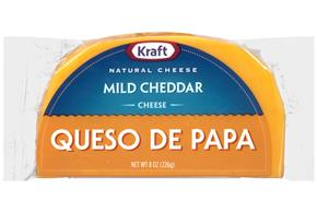 Kraft 8 Oz Half Moon Natural Cheese  Mild Cheddar     1 Wrapper Each