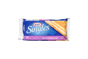 Kraft Singles White Cheddar Cheese Slices
