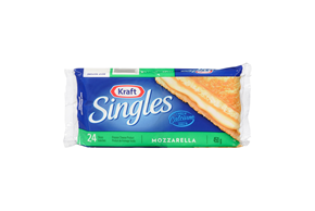 Kraft Singles Mozzarella Cheese Slices