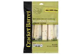 Cracker Barrel Jalapeno Cheddar Cheese Sticks 10 Ct Bag