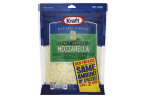 Kraft Finely Shredded Mozzarella Cheese - 8Oz