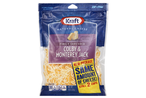 Kraft Finely Shredded Colby & Monterey Jack Cheese - 8Oz