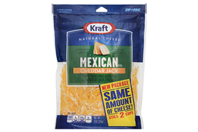 Kraft Finely Shredded Mexican Style Cheddar Jack Cheese - 8Oz