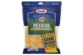Kraft Finely Shredded Mexican Style Four Cheese - 8Oz
