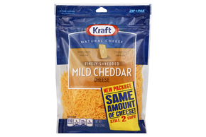 Kraft Finely Shredded Mild Cheddar Cheese - 8Oz