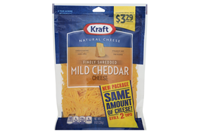 Kraft 8 Oz Natural Cheese-Fine Shreds  Mild Cheddar Pre Price $3.29    Pouch Each