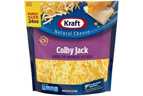 Kraft Colby & Monterey Jack Shredded Natural Cheese  24Oz Bag