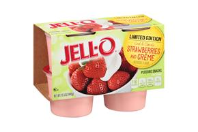 Jell-O(R) Limited Edition Strawberries And Creme Pudding Snacks 4 Ct Cups