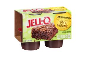 Jell-O(R) Limited Edition Fudge Brownie Pudding Snacks 4 Ct Cups