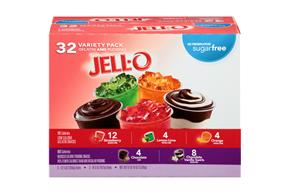 Jell-O Sugar Free Gelatin And Pudding Snacks Variety Pack 32 Ct. Cups