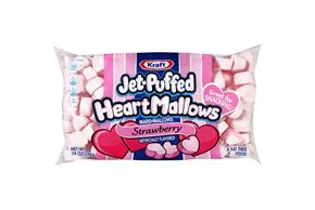 Jet-Puffed Heartmallows Strawberry Seasonal Marshmallows 14 oz Bag