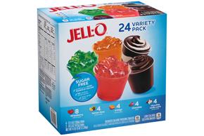 Jell-O 79 Oz Variety Pack Sugar Free Mixed     6/4Pk Multipack Inner Pack