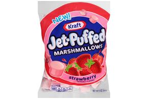 Jet-Puffed Strawberry Flavored Marshmallows 3Oz Bag