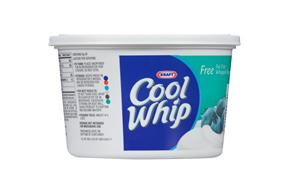 Cool Whip Free Whipped Topping-Frozen 12 Oz. Plastic Tub