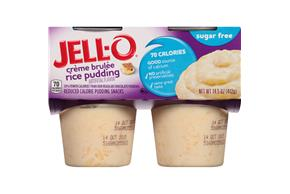 Jell-O Pudding Ready To Eat Rice Creme Brulee Sugar Free 4 Ct Cups