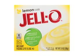 Jell-O Pudding-Instant Lemon  3.4 Oz Box