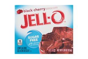 Jell-O Gelatin  Cherry Sugar Free 0.3 Oz Box
