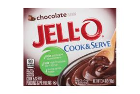 Jell-O Chocolate Cook & Serve  Pudding & Pie Filling 3.4 Oz. Box
