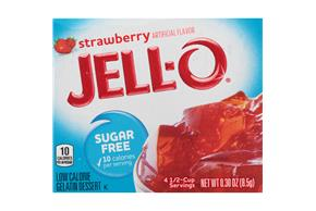 Jell-O Gelatin Strawberry Sugar Free 0.3 Oz Box