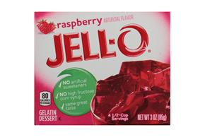 Jell-O  Gelatin Raspberry   3 Oz  Box
